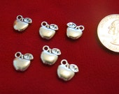 """10pc """"apple"""" charms in antique silver style (BC447)"""