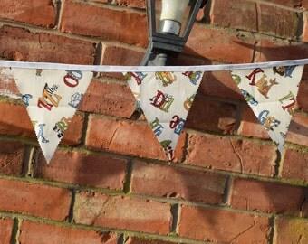 Animal Alphabet Bunting, Handmade Bunting, Nursery Bunting, Nursery Decor, Alphabet Bunting, Animal Bunting, Unisex Bunting