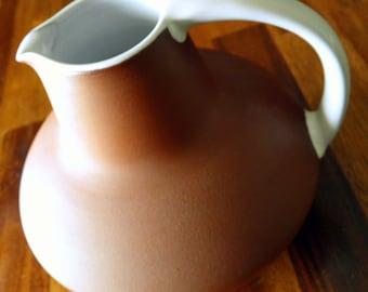 "Edith Nielsen (Danmark) Pottery Jug/Pitcher--Zeuthen Keramik--Signed & Numbered--5-1/2"" High x 7-1/2"" Diameter--Excellent Condition"