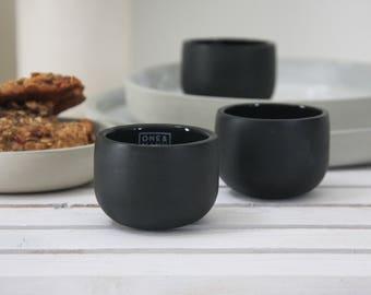 Ceramic espresso cup in black.unique coffee mug,Modern Espresso Cups, christmas gift guide,unique gift,Housewarming gift,for the hostess