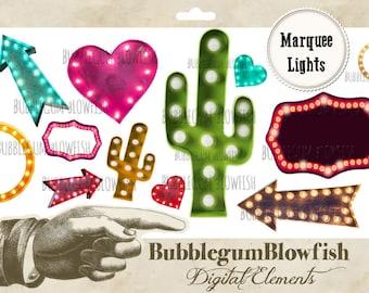 Marquee Lights Digital Graphic Design Elements