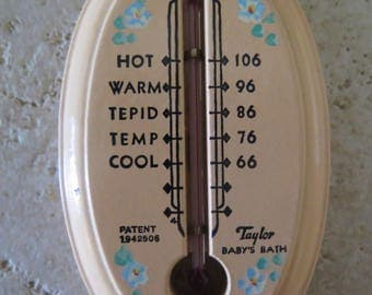 Baby's Bath Thermometer By Taylor Patent 1942506