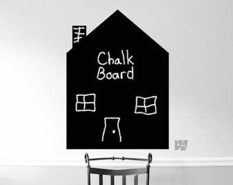 Chalkboard Decal. House Decal. Chalkboard house. 3 Foot House Decal. Wall Decal. Wall sticker. Home decor decals.