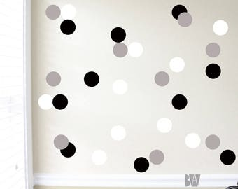 dot wall decals geometric wall decor black and white vinyl decals wall decal