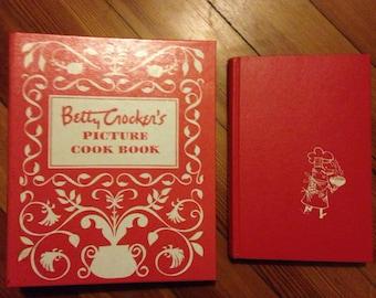 2 mid century cookbooks : betty crocker's picture cookbook & 365 ways to cook hamburger