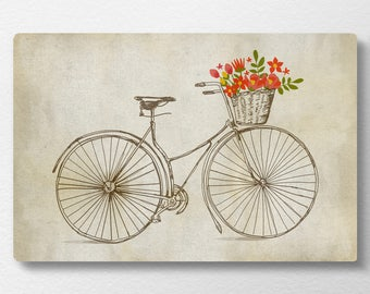Bicycle Wall Art nursery wall art bicycle decor | etsy