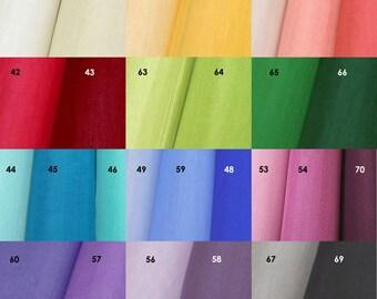 Set of 4 Colors Korean Traditional Silk Organza Silk 100% fabrics Oksa for Pojagi Hanbok