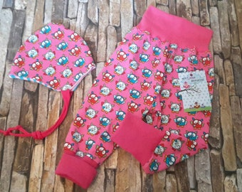 Hand made-Baby set OWL pink - Gr. 62/68