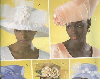 Butterick 4146 Sunday Fancy Church Hat Easter Bonnet Sewing Pattern