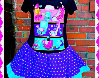 girls shopkins dress Shoppies 6/6X 7/8 10/12 and 14/16  ready to ship