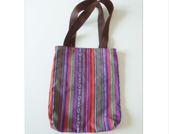 Boho ethnic fabric tote bag, multicolored, ethnic bag, eco friendly fabric bag, book bag, colorfull, hobo bag, shoulder bag, market tote