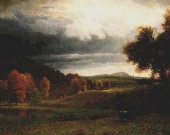 Autumn Landscape PDF Cross Stitch Pattern