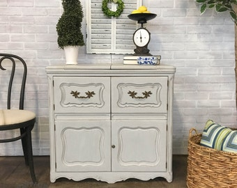 AVAILABLE: Grey Painted Buffet / Bar