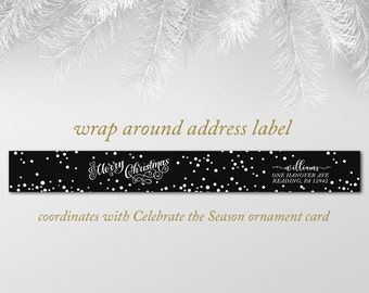 Wrap around return address labels, coordinates with Tidings of Joy Holiday Card