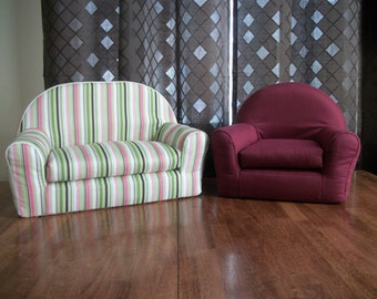 """18"""" Doll Furniture - Doll Sofa & Chair Furniture Set-This set also Reduced in Price to 75.00...Only 1 Set Available"""