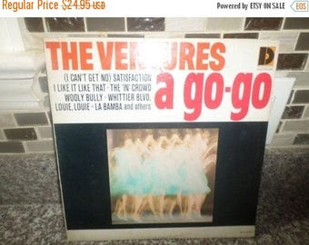 Save 30% Today Vintage 1965 Vinyl LP Surf Rock Record The Ventures A Go Go Near Mint Condition 5981