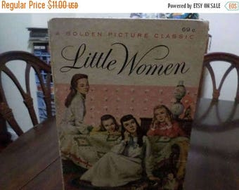 Save 25% Now Vintage 1956 Children's Book Little Women A Golden Picture Classic Hardcover