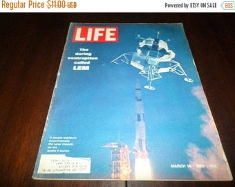 Save 25% Now Vintage March 14 1969 Life Magazine LEM Nixon Space Great Old Ad's Excellent Condition