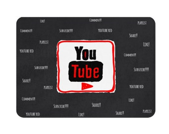 Bathmat, Teen Room Decor, Teen Gifts, Teen Boy Gift, Teen Bedroom Decor, Teen Girl Gifts, YouTube Ornament, Youtube, Youtube Play Button
