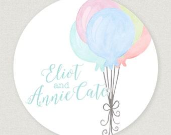 Sibling Balloon Sticker/Enclosure