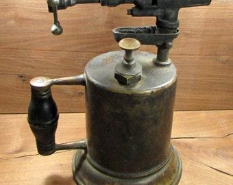 Blow Torch, Vintage Brass Blow Torch, Antique Blow Torch, Antique Welding Torch, Vintage Welding Torch, 1930's Blow Troch