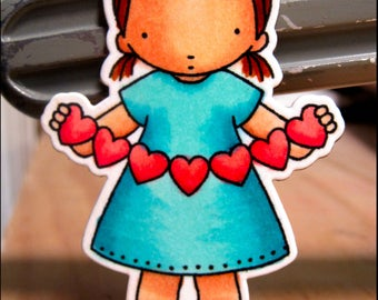 Refrigerator Magnet-Frig Magnet-House Warming Gift-Heart Banner-Love Magnet-Heart Magnet-Valentines Day-Valentines Day Magnet