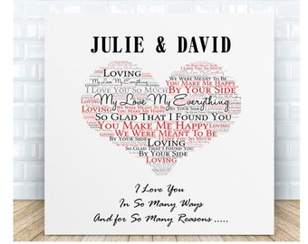 I Love You for So Many Reasons Message Ceramic Plaque. Personalised Gift. Anniversary, Wedding, Valentine's Day