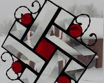Beveled Stained Glass Suncatcher