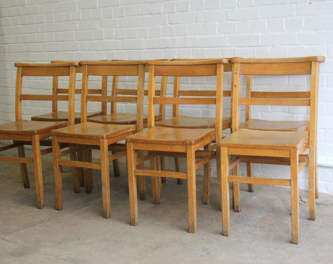Elm Church Chapel Chairs Circa 1950's