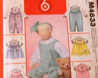 McCall's 4633 Infants' blouses, jumpers and jumpsuits pattern Uncut 13 - 24 pounds