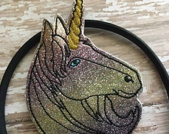 Unicorn -  Headband Slip On  - DIGITAL Embroidery DESIGN