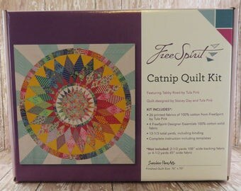 Catnip Quilt Kit - Tabby Road - Tula Pink - FreeSpirit