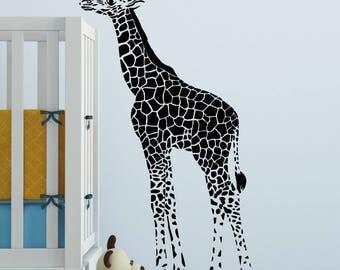 Baby Giraffe decal, Baby Giraffe, Baby giraffe decor, giraffe decorations, giraffe wall decal, giraffe wall art, giraffe wall decor D00103