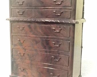 RENWAL Dollhouse Furniture - Highboy dresser (with cardboard back)