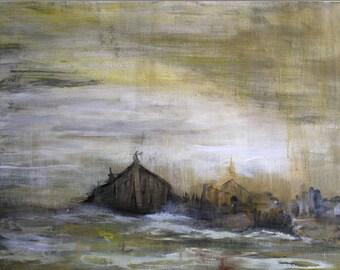 "Winter Barn No. 3 - 8""x12"" Giclee Print"