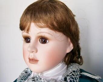 "1993 Morgan Brittany ""BLUE BOY"" Porcelain Doll 20"" tall #963 of 2500 Jonathan Buttal"