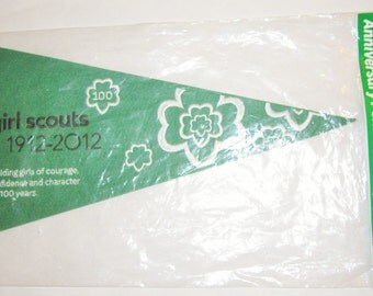 Girl Scout 100th Anniversary Pennant in Original Package