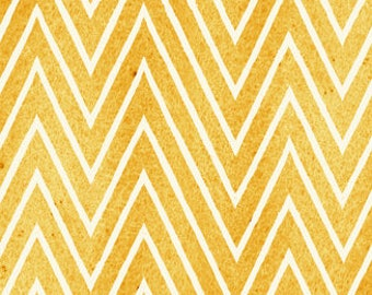 Gold Chevron, Draw Near, J Wecker Frisch, Quilting Treasures, Artsy Fabric, Quilting Cotton, Fabric By The Yard. Artists, Yellow Zig Zag