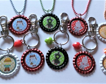 YOU PICK Wizard of Oz Inspired  Clip/Keychain or Necklace