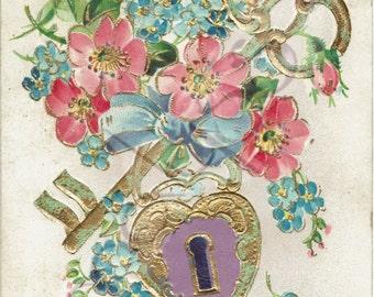 Nice flowery card vintage 1905