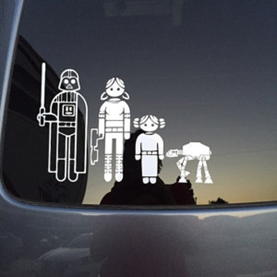 Custom Star Wars Stick Figure Family Vinyl Car Decals FREE - Custom design car decals free