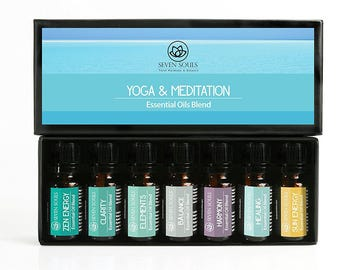 Yoga & Meditation Essential Oils Blend. Therapeutic Grade. Meditation and Energy Balance, Ideal for Reiki Sessions and Yoga