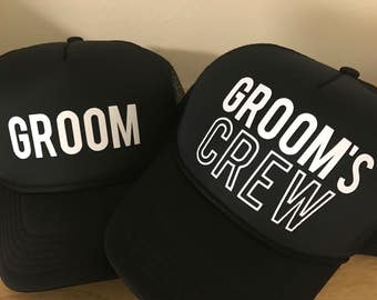 Groom Groom's Crew Bachelor Hats - Bachelor Party Guys Trip weekend hats