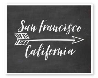 California Print, Custom City Art, Housewarming Gift, Custom City Print, Custom City Map, Going Away Present, Going Away Gift, Custom State