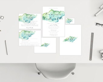 Wedding Package // Blue Watercolour
