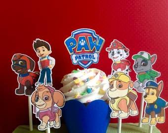 Pet patrol decorations, pet patrol cupcake toppers, pet patrol party, cupcake toppers, birthday party,