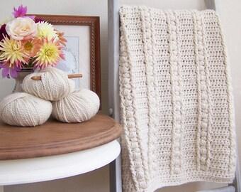 Crochet Baby Blanket Pattern Baby Afghan Pattern DIY Blanket Pattern New Baby Blanket DIY Gift for Baby Easy Crochet - Sweet Haven P124