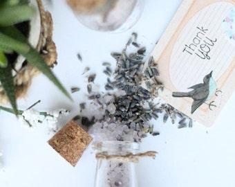 10 Lavender, Oatmeal Bath Salts//Wedding//Shower//Gift//Favor
