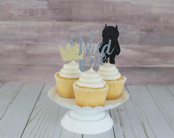 12 Where The Wild Things Are Cupcake Toppers; Birthday Party