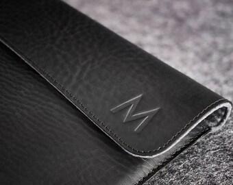 Laptop Leather Felt Folio Case Hand-made